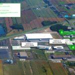 Vue aérienne des projets d'Innoval en cours.